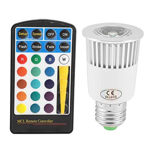 LED-lamp, E27 5W RGB LED-afstandsbediening Aluminium schaallamp met geheugenfunctie