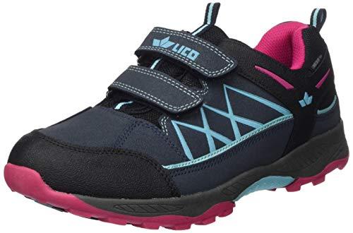 Lico Griffin Low V, Zapatillas para Correr de Diferentes Deportes, Azul Marino, Turquesa y Rosa, 31 EU