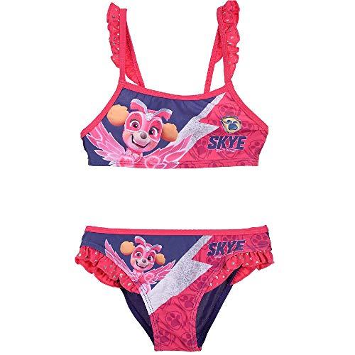 Paw-Patrol Mädchen Bikini Bademode in bunten Farben (Lila 2, 116)