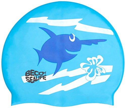 Beco Silikonhauben Sealife Badehaube, Blau, One Size