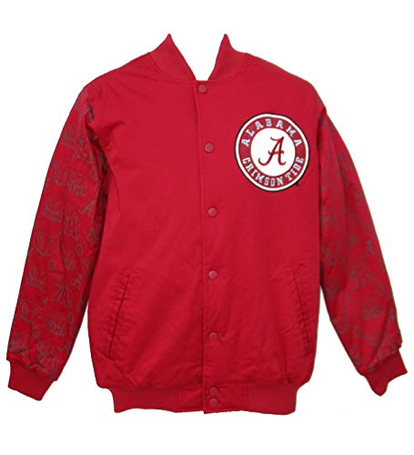 Alabama Crimson Tide Size X-Large XL Starter Varsity Bomber Jacket - Team Colors