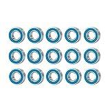MZWNQ 15 Piezas de rodamiento 5X11X4mm Kit para Traxxas Slash Stampede Rustler Bandit 2WD 1/10 RC Car Repuestos Accesorios de actualización(Color:Silver Blue)