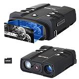 ESSLNB Prismaticos Vision Nocturna 10.8X31mm Binoculares Digitales Vision Nocturna 1080P Imagen 4' LCD Pantalla con 64G TF Tarjeta Foto Cámara Vídeo Grabadora Función de Reproducción