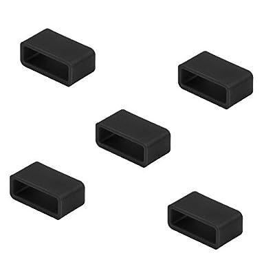 D-ROAD Colorful Silicon Fastener Ring for Fitbit Alta, Fitbit Flex,Fitbit Charge,Fitbit Charge HR,Garmin Vivofit