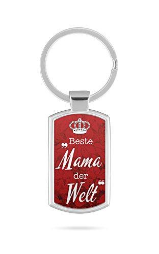 Schlüsselanhänger mit Gravur Wunschtext Name Beste Mama der Welt Spruch Zitat