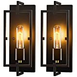 Wall Sconces, Wall Lights Set of 2,Rustic Home Decor Wall Lamp Bathroom Light Fixtures Farmhouse Lighting Industrial Wall Decor for Bedroom Living Room Kitchen Bar,E26 Base, Hardwired, Bulb Included