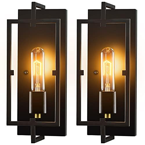 Wall Sconces, Wall Lights Set of 2,Rustic Home Decor Wall Lamp Bathroom Light Fixtures Farmhouse...