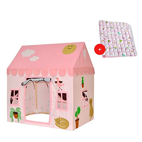 Learn More About Mogicry Outdoor Girl Child Tent Indoor Play House Boy House Toy Room Princess Doll Family Birthday Present Children Play Teepee with Floor Mat for Kids 1+ 1091616CM (Color : Tent+Carpet)