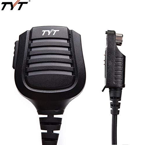 TYT - Micrófono para Altavoz de Hombro, Resistente al Agua, con Mando a Distancia, para TYT MD-2017 MD-398 Retevis RT82 VETOMILE V-2017