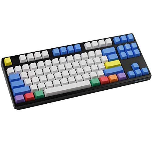Sunzit Keycaps, 87 Tecla PBT Keycap Tapa Blanca Gruesa de la Tiza Key Set Teclas en Blanco Keycaps para Cherry MX Teclado Interruptor Mecánico