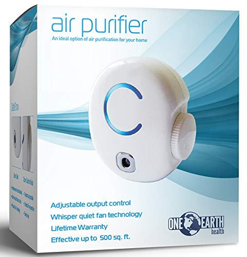 One Earth Health Ozone Generator Air Purifier to Eliminate Smoke Smell, Cigarette Odor and General Odor Eliminator. Best air fresheners for The Home. Plug in Ozone air Purifier.