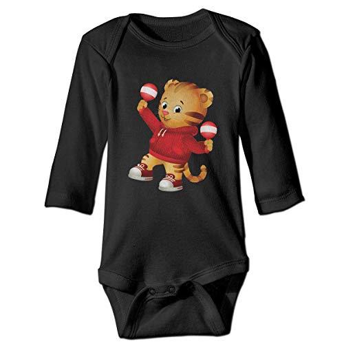 Dancing Tiger Cute Daniel Infant Boy Girl Custom Boutique Baby Bodysuit Onesie Black