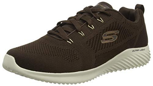 Skechers Bounder-RINSTET, Zapatillas Hombre, Ribete de Punto marrón Tostado, 41 EU