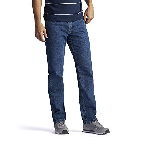 Lee Men's Regular Fit Straight Leg Jean, Medium Stone, 34W x 32L