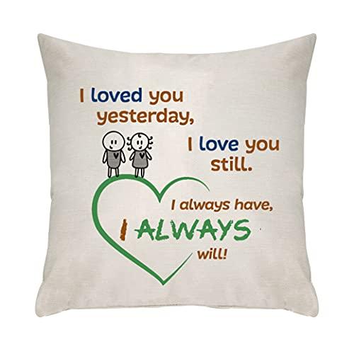 Ameesi Regalo de novio para novia, regalos para esposos, regalos para parejas, fundas de cojín, fundas de almohada, fundas de almohada para cumpleaños, regalos para el día de San Valentín (086)