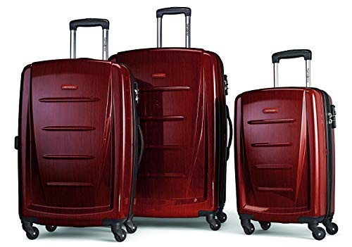 Samsonite Winfield 2 Hardside Expandable Luggage with Spinner Wheels, Burgundy, 3-Piece Set (20/24/28)