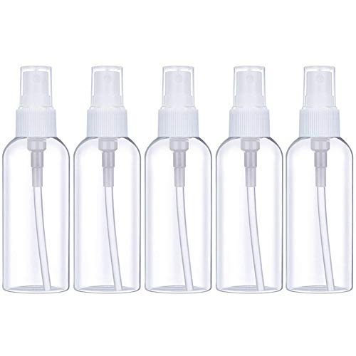 Fine Mist Spray Bottle Clear Travel Bottles Leak Proof for Makeup Cosmetic Containers