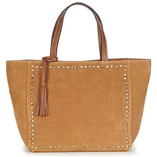 Loxwood CABAS PARISIEN VELOURS CLOUTE Tote bag/Borsa shopping donne Marrone - Unica - Tote bag/Borsa shopping