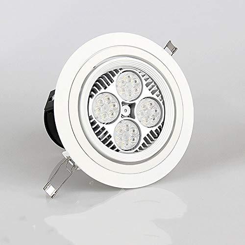35W / 40W Business Energy Saving LED Foco Ángulo Ajustable Redondo Empotrable Techo Downlight Bombillas Anti-deslumbramiento Iluminación comercial Panel Montado Lámpara Decoración Oficina Tienda de ro
