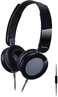 Panasonic RP-HXS200M-K Sound Rush On-Ear Headphones, Black/Gray