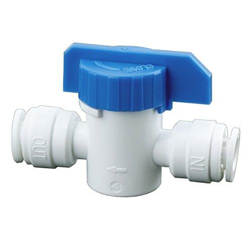 Absperrhahn Absperrventil für 1/4 Zoll Schlauch (6,35mm) Kugelhahnventil für Kühlschrankschlauch Wasserfilter Wasseranschluss Verlängerung Wasserzulaufleitung