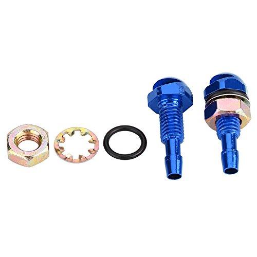 2-teilige Universal-Waschdüse, Auto-Auto-Scheibenwaschdüsen-Ersatzsatz(Blau)