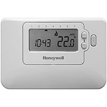 Honeywell Home CMT707A1003 Termostato Programmabile Settimanale Honeywell CM700, a batterie, Display LCD, 4 Livelli di Temperatura, Bianco