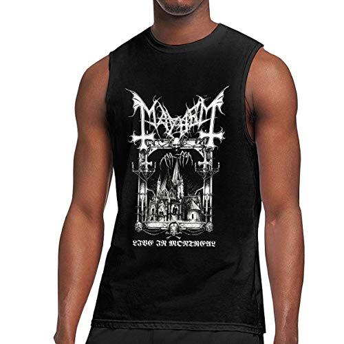 Lsjuee Camiseta sin Mangas para Hombre Mayhem