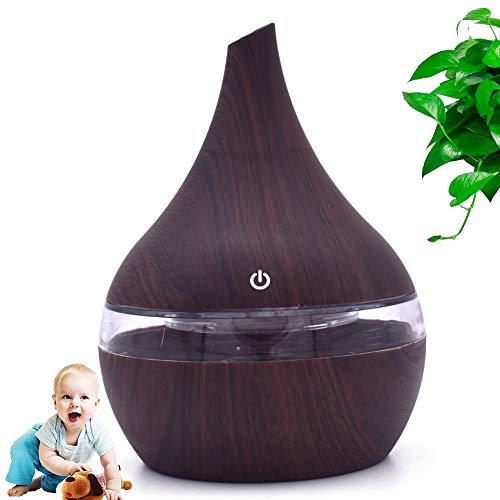 Gaidehua Aroma luchtbevochtiger met sesamolie, led, aroma-diffuser, onmisbare verstuiver, houten luchtreiniger, USB, aromatherapie, geschikt voor huis, slaapkamer, yoga, SPA