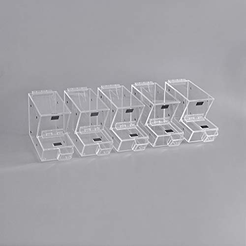 Best Review Of 11 x 4 x 7 Stackable Candy/Topping Dispensers with Scoop Holsters - 5/Set. Great f...