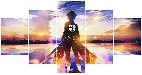 Hunbeauty art Attack on Titan Poster Ungerahmte Leinwanddrucke Anime Poster für Wohnzimmer
