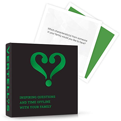 Vertellis Family Edition | Thoughtful Conversation Starters for Families | Family Card Games for Communication Building | Icebreaker Game Created for Parents and Their Children