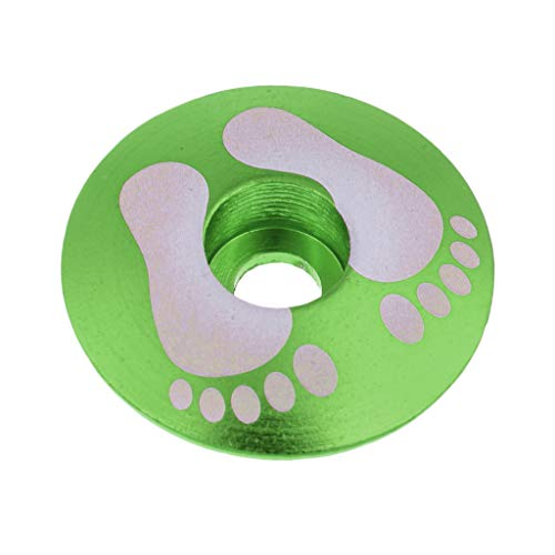 F Fityle Premium Stem Cap for Road And Mountain Biking - Green Foot