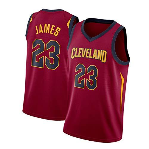 Herren Basketballtrikot #23 LeBron James-Cleveland Cavaliers Jersey, Große Größe Sportbekleidung, Ärmellose Stickerei Mesh Basketball Swingman Trikots (S-2XL) L Farbe 1