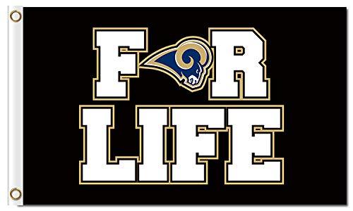 ReddingtonFlags NFL Teams for Life Flag 3x5ft Banner (Rams)