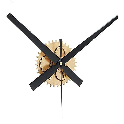 Dyna-Living Uhrwerk für Wanduhr, Wanduhr Groß, Retro Mute DIY 3D Decor Große Wanduhr für Wohnzimmer Büro Hotel - Gold