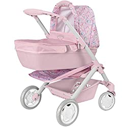 GREAT FIRST PRAM - Keep your dolly comfy when out and about in the baby annabelle pushchairs. With easy steering double wheels can fit dolls up to 50cm NURTURING PLAY - It also encourages nurturing and multi-functional role-play and imagination, whic...