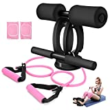 SGODDE Sit Up Bar with Resistance Bands, Sit Up Bar for Floor Sit-up Assistant Device with Knee...