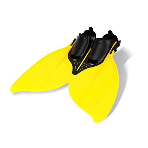 Yosoo - Aletas de sirena para entrenamiento, para niños, amarillo