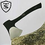 TS Knife BUCHERON 295 Hacha táctica | Longitud de la hoja: 14,7cm | Hacha táctica de supervivencia para aventuras de supervivencia