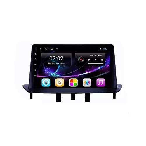 Car Stereo Android 10.0 Radio para Megane 3 2008-2014 Navegación GPS Unidad Principal de 9 Pulgadas Pantalla táctil HD Reproductor Multimedia MP5 Video con WiFi DSP SWC Mirrorlink