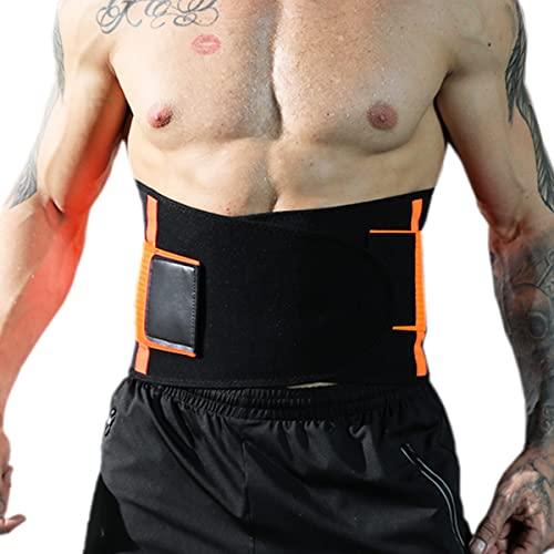 GvvcH Faja Lumbar para la Espalda Soporte Lumbar Ortesis de Apoyo para el Dolor de Cintura Corrector de Seguridad Deportiva para Cinturones de Levantamiento de Pesas de Fitness,M