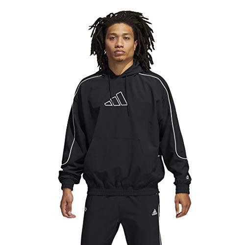 adidas mens Hard Cut Hoodie Black Large
