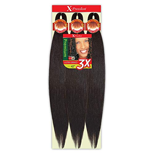 "MULTI PACK DEALS! Outre Braids X-Pression Kanekaion 3X Pre Stretched Braid 42"" (3-PACK, 1B)"