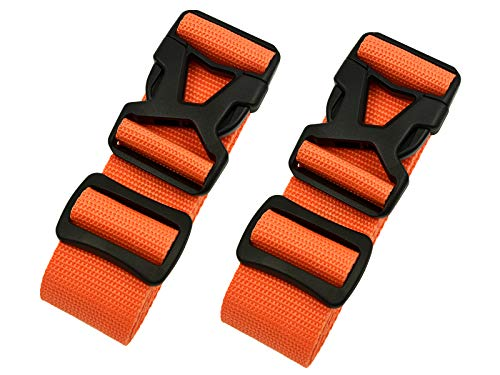 Luggage Straps - Adjustable Suitcase Packing Belts with Buckle Closure Travel Accessories by Riemot(3.8 * 200CM+3.8 * 230CM)Orange