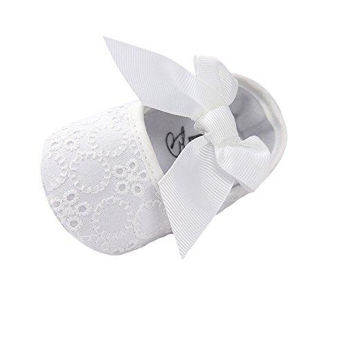 MK MATT KEELY Baby Mädchen Taufe Waschung Hochzeit Party Weiß Bowknot Schuhe 6-12 Monate