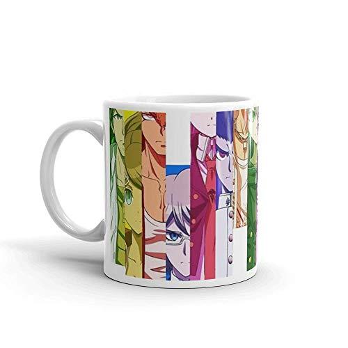 Danganronpa - Tazas de cerámica brillantes de 11 onzas de fundición completa, regalo para los amantes del café, taza de café única, tazas de 11 onzas, es el regalo perfecto para todos