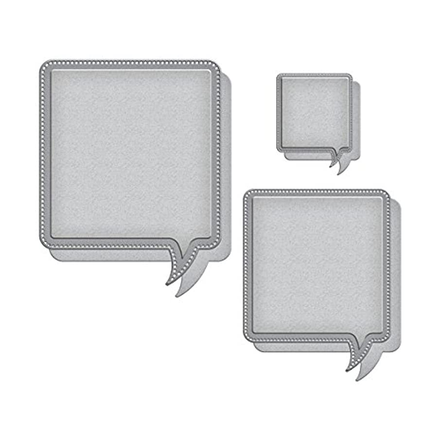Spellbinders SCD-023 Celebra'tions Pierced Word Bubbles Etched/Wafer Thin Dies