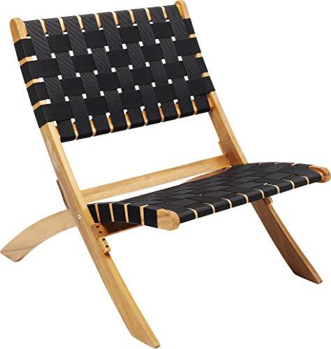Kare Design Klappsessel Ipanema, Klappstuhl in schwarz mit bequemer Sitzfläche, Klappsessel ohne Armlehnen, (H/B/T) 72,5x78x60cm