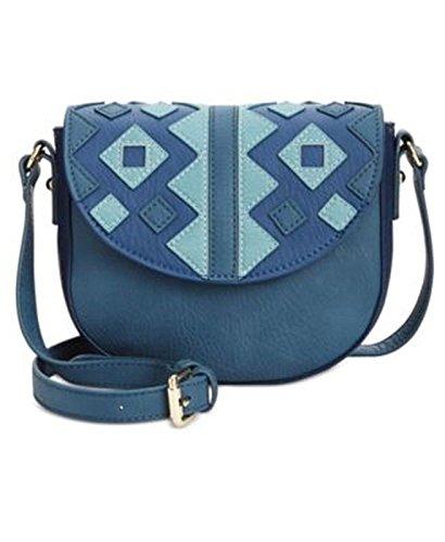 INC Damen Handtasche Marginy Kunstleder Colorblock Denim Small